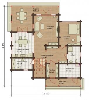 Проект дома 7839