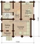 Проект дома Надежда-9х9,40