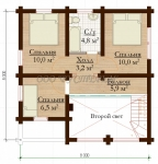Проект дома Надежда-8х8