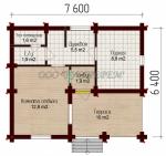 Проект бани №155