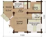 "Проект дома №7818 ""Лесная сказка"" балкон"
